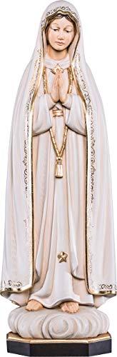 Ferrari & Arrighetti Imagen de la Virgen de Fátima en Talla de Madera Pintada a Mano Que Mide 15 cm - Demetz Deur