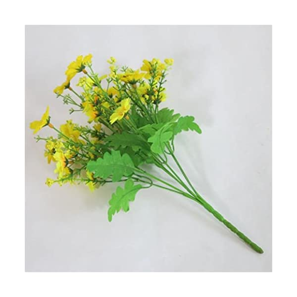 1 ramo Sunlight House con 28 flores artificiales de margarita. Maceta de decoración para colgar en interior, exterior…