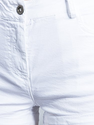 CASPAR HTP005 Damen Sommer Shorts   Hotpants   kurze Hose Weiß ... 8dd3db1e29