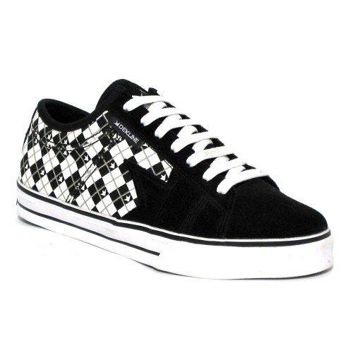 Dekline Skateboard Schuhe Villain White/Black, Schuhgrösse:37 (Herren Dekline Schuhe)