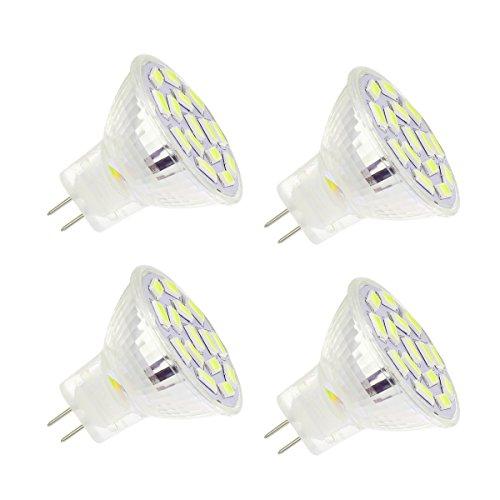 Beleuchtung Track Küche (ahevo 3,5W MR11GU4.0LED Leuchtmittel, entspricht 25–35W Halogen Lampen, GU4.0Sockel AC/DC 12V, 350lm, 120° Flood Beam, warmweiß, Einbauleuchte, Track Beleuchtung, (3000K) 4Stück, warmweiß, GU4, 3.50 wattsW 12.00 voltsV)