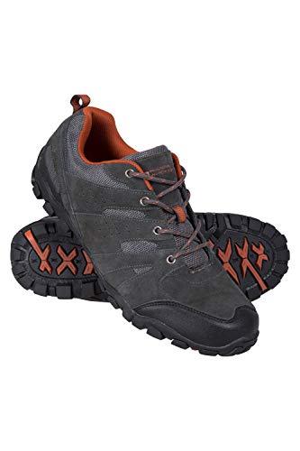 Mountain Warehouse Outdoor Wanderschuhe für Herren - Wildleder, atmungsaktiv, leichte Schuhe, Gummisohle, Stoßfänger im Zehenbereich - Für Trekking, Alltag Dunkelgrau 42