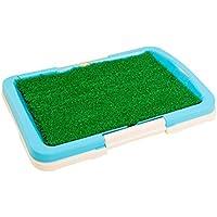 Dog Potty Toilet, Indoor Grass Mesh Pet Pee Puppy Entrenamiento Potty Patch Tray Mat Pad 46 * 34 * 5cm Pequeño Uso para Mascotas