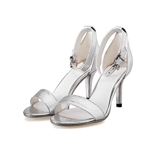 Adee con polsino alla caviglia, da donna, colori assortiti, in pelle Bianco (bianco)