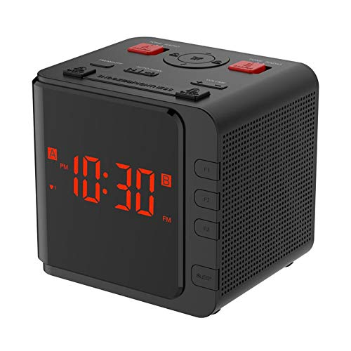 HEIRAO Digitale Radiowecker, AM/FM-Radio, LED-Dimmer, Snooze-Sleep-Timer