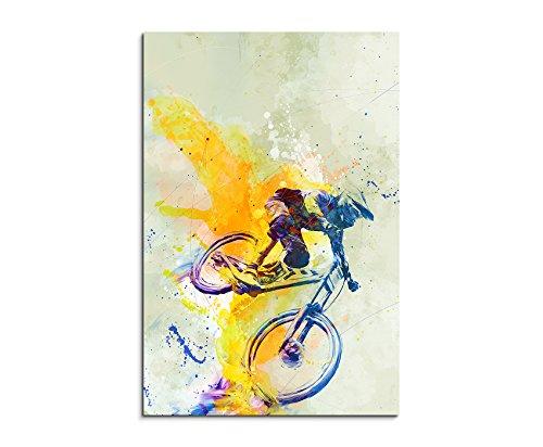 MTB DH 90x60cm Wandbild SPORTBILD Aquarell Art tolle Farben von Paul Sinus
