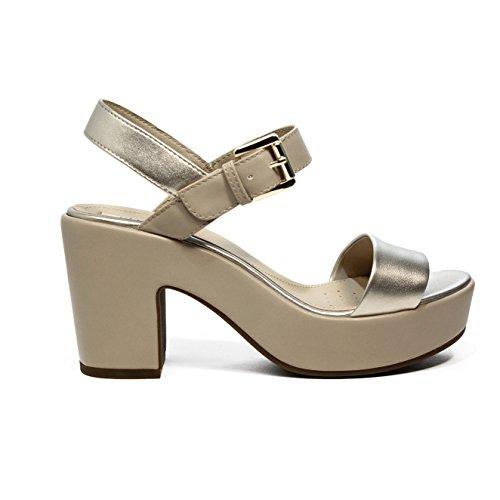 Geox D724SA0AJ54 Sandale Femme Taupe