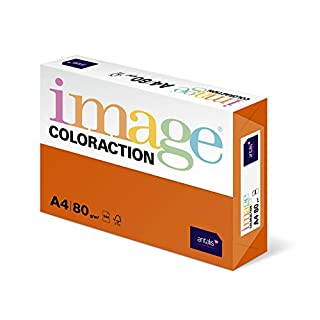 Coloraction 838A 080S 15 - Antalis Kopierpapier, DIN A4, 80 g/qm, Farbe: amsterdam - orange
