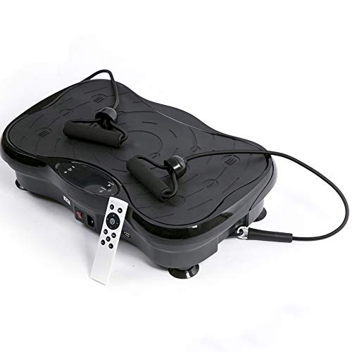 3D Vibrationsplatte, Dual Motor 3D Power Vibration Plate Intelligentes Bedienfeld, drahtlose Fernbedienung, 3 große dreidimensionale seismische Zone, mit Anti-Rutsch-Saugnapf, rutschfestes Pedal