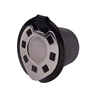 ounona capsula di caff¨¨ ricaricabile in acciaio inox con capsula ricaricabile Nespresso per macchine nespresso (Chrome)