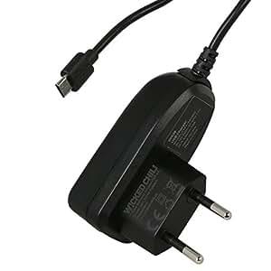 Wicked Chili micro USB Netzteil für TomTom Start 20, 25, 50, 60 / Go 51, 61, 510, 610, 5100, 6100 / Go Live 820, 825 / Via 110, 120, 125, 130, 135 (1000 mA, micro-USB, 150 cm)