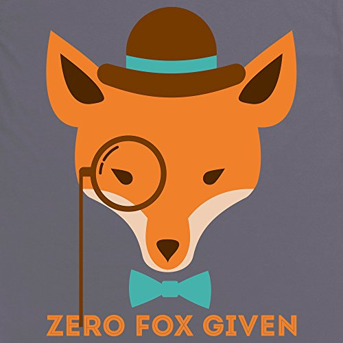 Hipster Fox T-Shirt, Herren Anthrazit