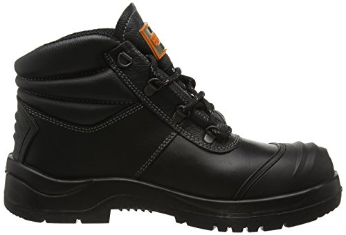 Unbreakable Herren renovator Black Safety Boot With Rhino Ridge Bump Cap and Kick Plate Sicherheitsschuhe Schwarz (Black)
