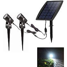 Luces solares exterior Foco solar Impermeable para patio, jardín y entrada de coches , De