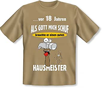 lustiges t shirt zum 18 geburtstag f r hausmeister. Black Bedroom Furniture Sets. Home Design Ideas