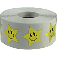 1 Inch Smiley Face Stars
