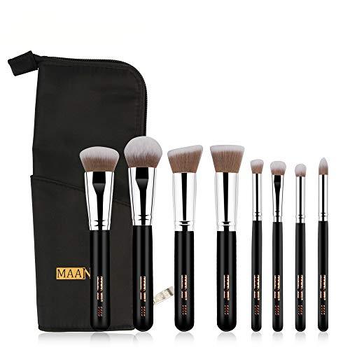 Beauty-Tools,Jaerio 8Pcs Makeup Brushes Powder Foundation Eyeshadow Eyeliner Lip Cosmetic Brush Holzgriff, farbiges Faserhaar, Mascara, Augenbrauenstift, Eyeliner, Valentinstag, Freundin