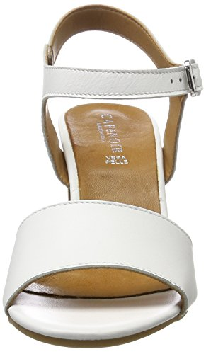 Cafènoir - Mxl162, Sandalia De Tacón Mujer Blanca