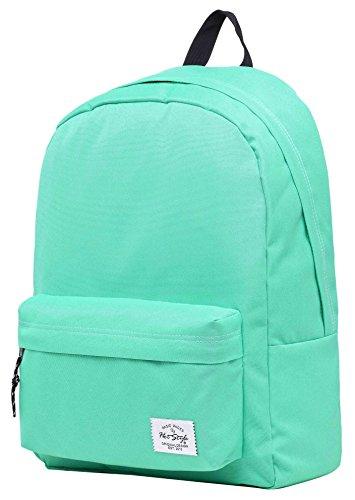 SIMPLAY Klassischer Schulrucksack Büchertasche | 44x30x12.5cm | Verschiedene Farben | Türkis (Stoff Handtaschen Taupe)