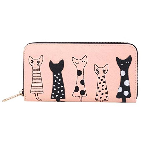 Amazon Black Sales Friday Cyber Sales Monday Sales & Deals Week 2018- Valentoria® Birthday Gifts for Women's Cartoon Cat Wallet Faux Leather Coin Purse Zippered Wallet Clutch