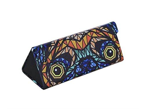 Young shinee Brillenetui Faltbare Dreieck Brillenetui Hard Sonnenbrille Box Gläser Tasche (braun) für Lesebrille (Farbe : Multicolor8, Größe : 16 * 6 * 6cm)