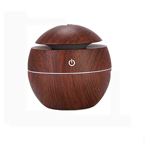 WERNG 130ml Holzmaserung-Öl-Diffusor, Kaltnebelbefeuchter mit Nachtlichtfunktion, Einstellbarer Nebelmodus für Heimbüro-Babyraum,Brown