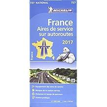 Carte France Aires de service sur autoroutes 2017