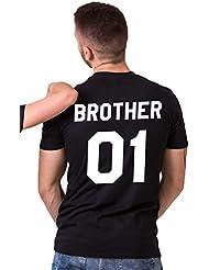 ZKOO Femmes Frères Et Sœurs D'Impression Chemise Décontractée T-shirt à Manches Courtes Blouse Tops Été
