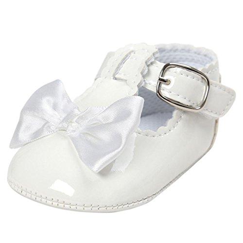 Schuhe Babys,LianMeng Baby Bowknot Prinzessin Schuhe Weiche Sohle Schuhe Kleinkind Turnschuhe Freizeit Schuhe (12 (6~12Monate), White) (Kleine Holz-clogs)