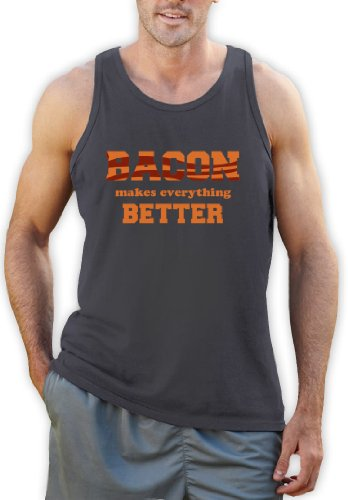 Bacon Makes Everything Better Tank Top Dunkelgrau
