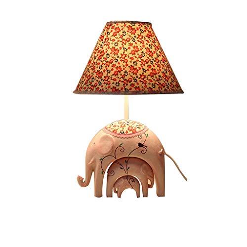 XIAOPING Lámpara de Mesa Dormitorio lámpara de Noche Dibujos Animados atenuación protección Ocular Forma de Elefante lámpara de Mesa Decorativa (Color : Pink)