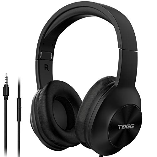 TAGG SoundGear 700 over Ear Wired Headphones with Built-in Mic, Deep Bass and Stereo Sound (Black)