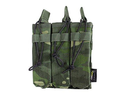 BE-X Offene Magazintasche für CQB, für MOLLE, für drei MP5 Magazine - multicam tropic