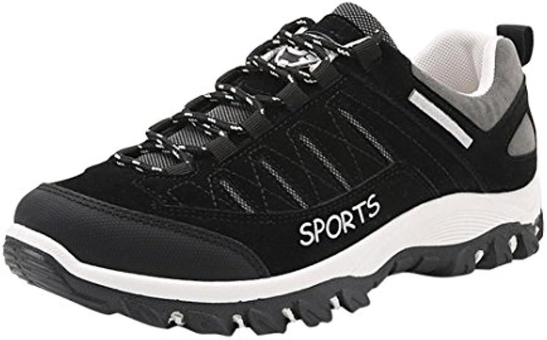 Landfox Hombres Outdoor Sneakers Sports Hiking Casual Zapatos Antideslizantes a Prueba de Agua