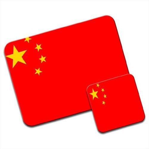 China Flagge Premium Mauspad und Untersetzer Set China Plate Set