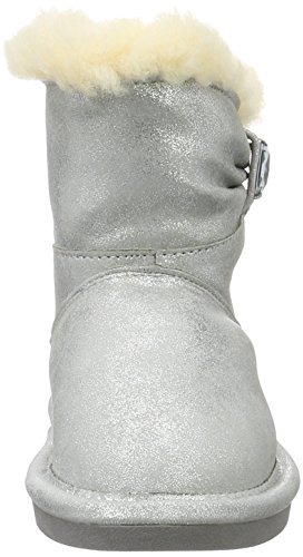 Bearpaw Robyn Toddler, Bottes courtes avec doublure chaude fille Argent - Silber (Pewter 350)