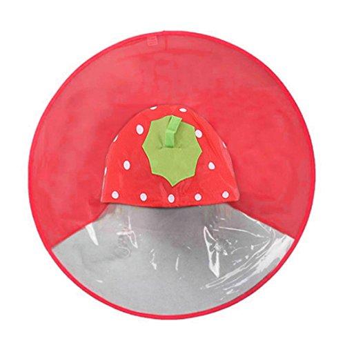 uBabamama Cute Rain Coat UFO Children Umbrella Duck Hat Poncho Magical Hands Free Raincoat