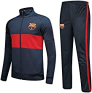 Barcelona Club Tracksuit Set Gym Jogging Bottoms Casual Full Zip Joggers Sports Sweatsuit with Pockets Fan Clothes Gift