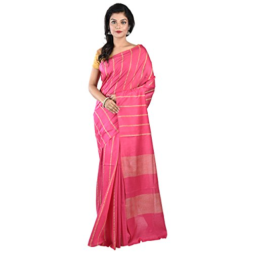 Sarees(CRAFTS AND LOOMS new Collection 2018 Solid, Striped, Plain Bhagalpuri Handloom Silk,...