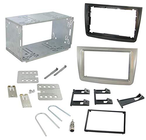 Sound Way Kit Montaggio Autoradio, Mascherina 2 DIN, Plancia Metallica, Adattatore Antenna, Compatibile con Alfa Romeo Mito 2008