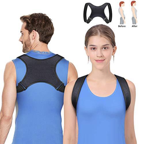 Vandeep Geradehalter zur Haltungskorrektur Rückenstütze Rückenbandage Haltungstrainer Haltungskorrektur Rücken Damen und Herren-Größenverstellbar