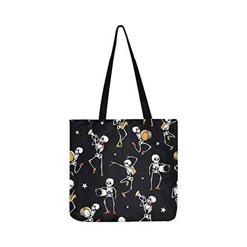 Vektor Dark Black Tanzen Spielen Musik Leinwand Tote Handtasche Umhängetasche Crossbody Taschen Geldbörsen Für Männer Und Frauen Einkaufstasche