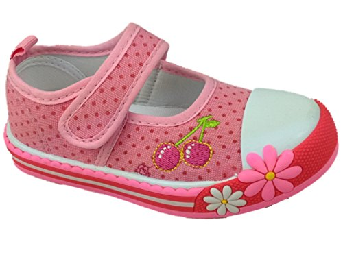 Foster Footwear Baskets Mode Pour Fille Rose Rose - Rose - Rose Cerise,