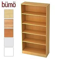 Bümö® Office Aktenregal aus Holz | Büroregal für Aktenordner | Regal System für Ordner | Bücherregal inkl. Einlegeböden (Buche, Breite = 100 cm | 5 Ordnerhöhen)