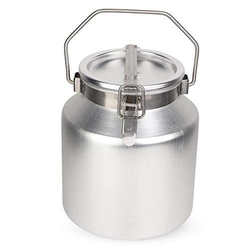 HEEPDD Edelstahl-Milchkanne, Aluminiumlegierung 5L transportierbare Milchfermentations-Fass-Milchkübelkanne mit verschlossenem Deckel - Ziegen-milch-bar