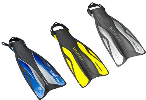 Aqua Speed SWIFT Pro Taucherflossen Schwimmflossen Flossen Schnorchelflossen (offenes Fußbett, Schnellverschluß Fersenband, Clicksystem, Aquaschuh geeignet) ...