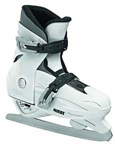 Roces MCK II F Childrens Adjustable Ice Skates - 25-29, White (White Black)