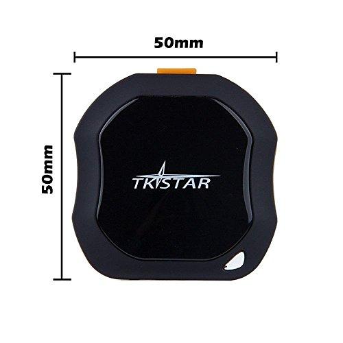 TKSTAR Tragbare Mini GPS Tracker, Haustiere Hund Katze Fahrzeuge kinder ältere mini GPS Outdoor Navigation SOS Wasserdicht GPS Ortung Echtzeit Ort mit kostenloser APP für Android und iPhone TK1000