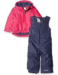 Columbia 1562211_M Conjunto de Nieve con Chaqueta para niños, Buga, Rosa (Cactus Pink), Talla M