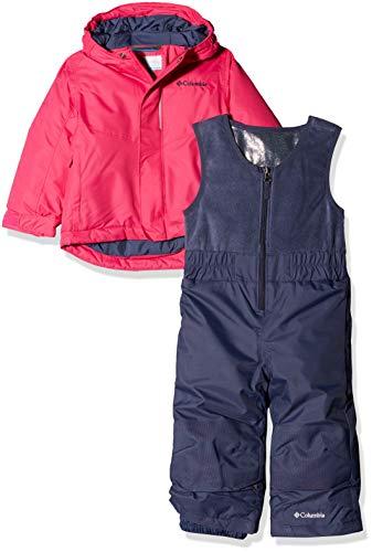 Columbia Set Conjunto de Nieve con Chaqueta para niños, Buga, Rosa (Cactus Pink), Talla 4T